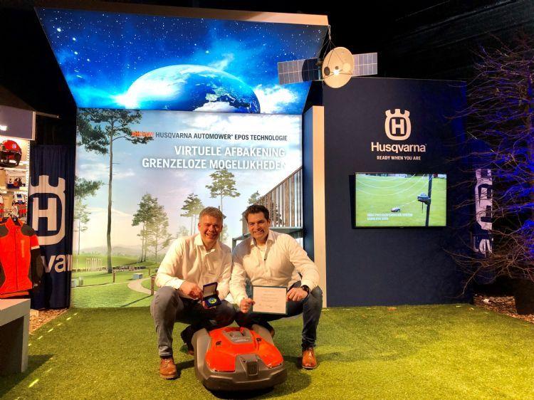 De Gouden Grasmaaier-prijs voor de Husqvarna Epos op de Groene Sector Vakbeurs 2020. Ook op de Tuin & Park Expo is de Epos van de partij.