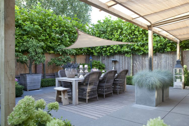 De tuin wordt steeds meer een geïntegreerd onderdeel van het huis.