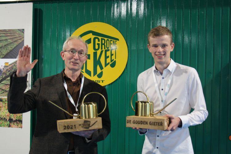 Winnaars van de Gouden Gieter 2019 Dionysios Sofronas (links) en René Voogt (rechts).