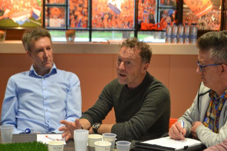 Menso de Maar (stichting Sportpark De Eendracht), Ben Demmer (gemeente Borne) en Ad van de Luijtgaarden (gemeente Zwijndrecht)