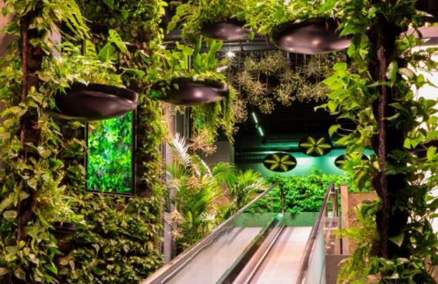 'Flowerizing people'-belevingscentrum  door Green Fortune en Donker Interieur