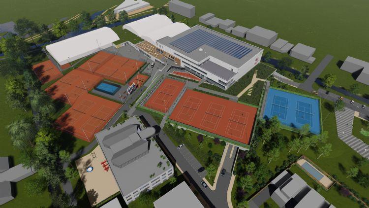 Het Nationaal Tenniscentrum zal straks over drie van de vier Grand Slam-banen beschikken
