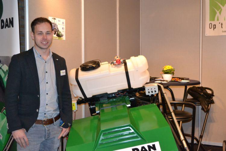 Rens op 't Root uitvinder van de Envo-Dan Haagbescherming op de Groene Sector Vakbeurs.