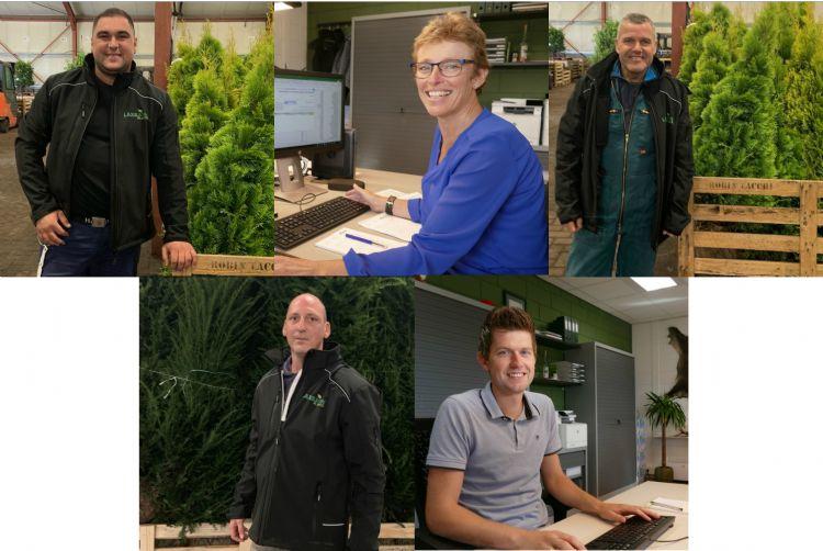 Boven: Christian Florian, Jacqueline Morren en Johan van Hassel Onder: Theo Stoop en Evert Jansen