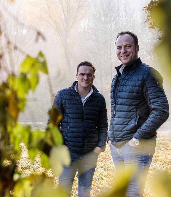 Gebroeders Roy en Roel Bastiaens van BTA Groen. Foto: Gerlach Delissen fotografie