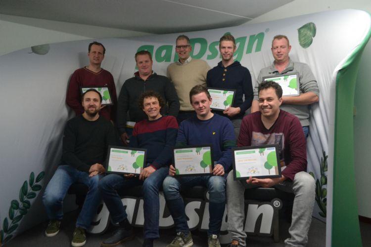 Alle deelnemers en coaches van Groenversneller mét de behaalde certificaten