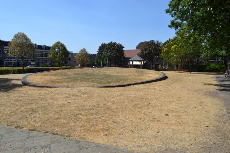 Een droog stadspark in 2018 te Nijmegen