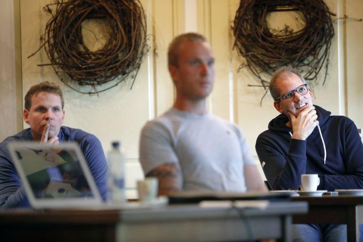 vlnr Rick Veeken, Kevin Kouwenhoven en Pieter Peelen