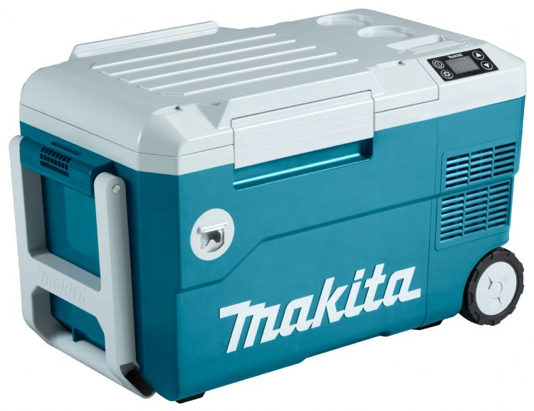 Het LXT-platform van Makita is uitgebreid met vries-/koelbox met verwarmfunctie DCW180Z.