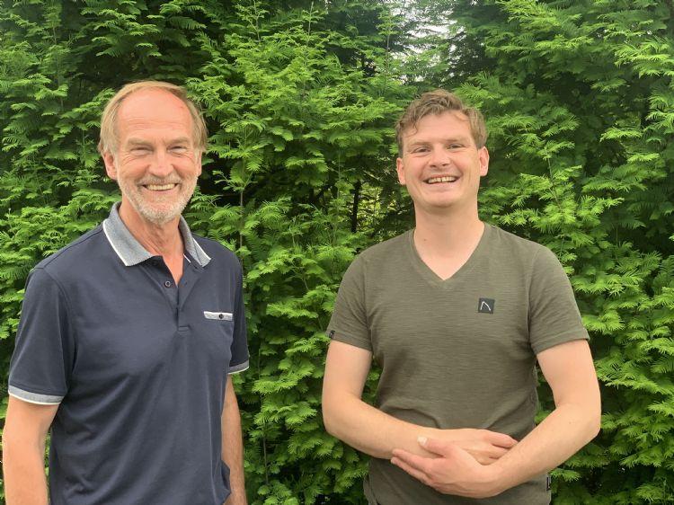 Wim Lips (l) en Bram Lips (r)
