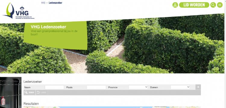 De ledenzoeker is het best bezochte onderdeel van de VHG-website